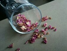 Dried Organic Pink Rose Petals 10g - Pet Rabbit Guinea Pig Herb Hay Topper Treat