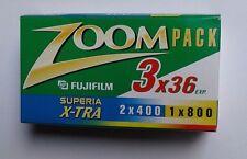 rullini fotografici Zoompack-Fujifilm Superia x-tra 3x36 2x400-1x800(scaduti)