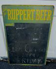 "RUPPERT Beer Bar -  Pub ""Chalkboard"" Metal Sign Rare Collectible"