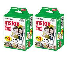 40 Fujifilm Fuji Instax Mini Film White Sheet for 7s 8 10 25 50s 50i SP1