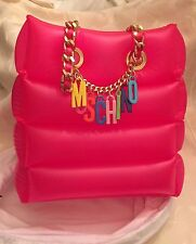 SALE MOSCHINO Barbie Jeremy Scott Inflatable Shoulder Bag Pink CHARMS Handbag