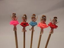 Hand Made 5 ballet Girls On A Stick Dolls House Miniature Nursery