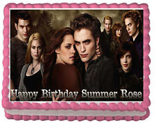 Twilight Eclipse Premium Frosting Sheet Cake Topper FREE Personalization