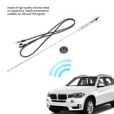 Universal Auto Car Roof Antenna FM & AM Radio Aerial Extended Chrome Metal