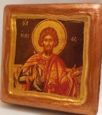 Saint Elias Ilias Elijah Mount Athos Agion Oros Greek Orthodox Icon Art OOAK