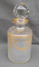 GRAND Flacon ancien en cristal de Saint-Louis POUR SERVICE DE TOILETTE