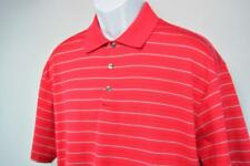 NIKE FIT DRY Tiger Woods Collection 3-Button Polo Golf Shirt Red Striped Mens L