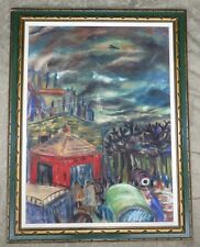 MIKLOS FARKASHAZY 1895-1964 HUNGARIAN LISTED MODERNIST LARGE PASTEL PAINTING