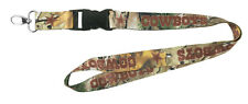 Dallas Cowboys CAMO Realtree PSG Premium Lanyard 2-sided Clip Keychain Football