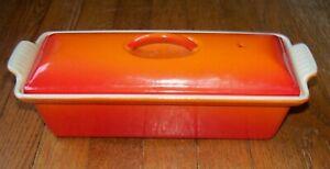 Le Creuset Cast Iron France #28 Pate Terrine Bread Pan - Flame Orange