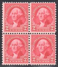 Sc#707 - 2c Washington by Gilbert Stuart Block of 4 Mnh
