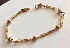 Beautiful Ladies 9CT Gold Fancy Link Ball Bracelet
