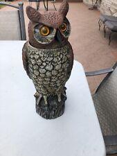 New listing Great Horned Owl Scarecrow Plastic Bird Repellent Decoy Yard Garden Decoration
