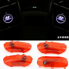 4X Car Led Door Logo Projector Ghost Shadow Light For Hyundai Sonata 2010-2014