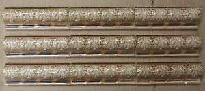9 ENGLAND - ANTIQUE ART NOUVEAU MAJOLICA BORDER TILE C1900