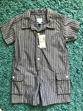 New Children's place Baby Boys Snap on Romper Sz 6-12 months / Blue/ Shortsleeve