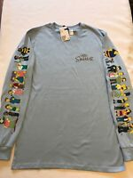 THE SIMPSONS Long Sleeve H&M T-Shirts NEW XS,S,M,L,XL CHARACTERS ON BOTH SLEEVES