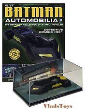 Eaglemoss 1:43 Batman Automobilia Batmobile Detective Comics #591 EM-BM031 w/Mag