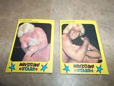 LOT OF 2 1986 Monty Gum Wrestling Stars Yellow Mini Cards LOT #5 RIC FLAIR