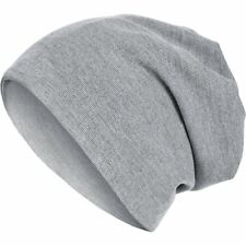 Urban Classics Rib 2in1 Beanie - heather gris