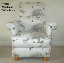 Fryetts Tatton Animals Fabric Adult Chair Fox Owl Nursery Armchair Deer Natural