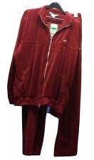 Vintage NIKE SWOOSH Men's XL Tracksuit BURGUNDY Velour 2PC NWT 2002 Track Suit