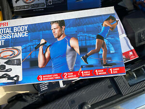 SPRI Exercise Total Body Resistance Band Kit NEW Sealed Workout Fitness Strength