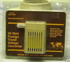 Archer 50 Watt Foreign Travel Voltage Converter Nos