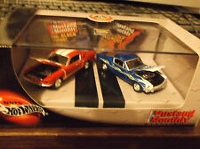 HOT WHEELS 100% 2 CAR SET MUSTANG MONTHLY MAGAZINE