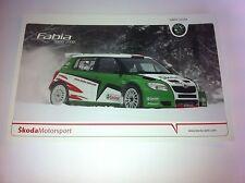 CP POSTCARD CARTOLINA SKODA FABIA KOPECKY RALLY MONTE CARLO RALLYE WRC 2010