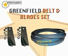 GREENFIELD RIDE ON MOWER BLADE & BELT SET To suit Selected Models. (OEM GT376)
