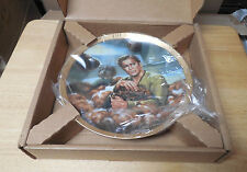 STAR TREK THE TROUBLE WITH TRIBBLES 1986 COLLECTION PLATE IN BOX