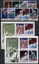 113/SPACE RAUMFAHRT 1969 FUJEIRA Moon Landing A399-407 A/B + Bl. 16 A/B ** MNH