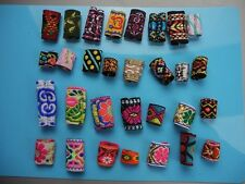 15 Pcs Colourful Dread Dreadlock fabric Beads Mix Hair Braid Cuff Clip 8mm Hole