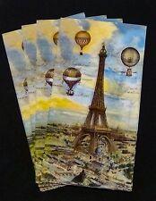 4pc Punch Studio Balloons over Paris Guest 3ply paper napkin. 13 x 16 Decoupage