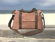 Canvas Weekender Travel Bag / Duffle for Men and Women - Honey Coffee / Brown