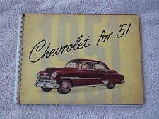 1951 CHEVROLET DELUXE BEL AIR STYLELINE ORIGINAL DEALER ALBUM SALESMANS BINDER