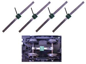 Schleifer Radschleifer Stromabnehmer für Waggonbeleuchtung Achsen 4 Stück S867
