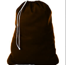 1 NEW HEAVY DUTY BROWN COMMERCIAL CANVAS BAG COLLEGE GYM LAUNDRY BAG 30''X40''