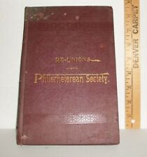 ANTIQUE RE-UNIONS OF PHILORHETOREAN SOCIETY HB BOOK FAIRFIELD SEMINARY 1894 RARE