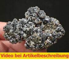 6491 Galena Sphalerite Pyrite 6*8*3 cm classic 1982 Gyöngyösoroszi Hungary MOVIE