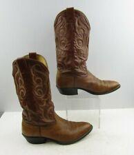 Men's Brown Leather Nocona Cowboy Western Boots sz:8.5EE *wide*
