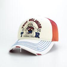 True Religion Front Title Buddha Boy 1956 Cap Hat $85 Brown/White