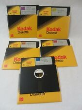 "5 LOT - 5 1/4"" Kodak Floppy Diskette 2S 2D MD2 48-TPI, Double Sided/Density 1987"