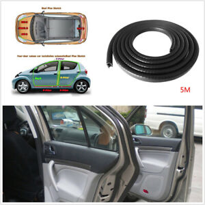 DIY 5M Flexible Car Door Edge Protector Sealing Strip Seal Rubber Trim Universal