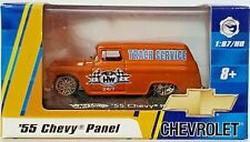 2008 Hot Wheels '55 Chevy Panel Track Service Die Cast 1:87 HO Scale & Case NIB