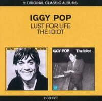 IGGY POP (2 CD) LUST FOR LIFE + THE IDIOT ( DAVID BOWIE / THE STOOGES ) *NEW*