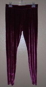 HUE Velvet Leggings, MEDIUM, Burgundy/Sangria  NWT