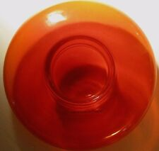 Vintage Handblown Glass Candle Holder ~  Fiery Red ~ Made iin Poland