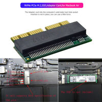 NVMe PCIe M.2 Key SSD Expansion Adapter Card for Macbook Air 2013 2014 2015